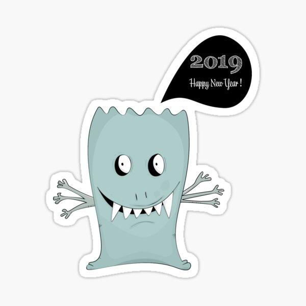 2019 : Happy New Year ! Sticker