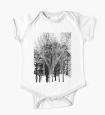Gray-scale Forest One Piece - Short Sleeve