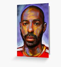 Thierry Henry - The King Greeting Card