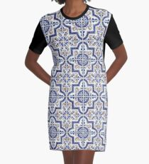 Azulejo — Portuguese Moorish pattern Graphic T-Shirt Dress