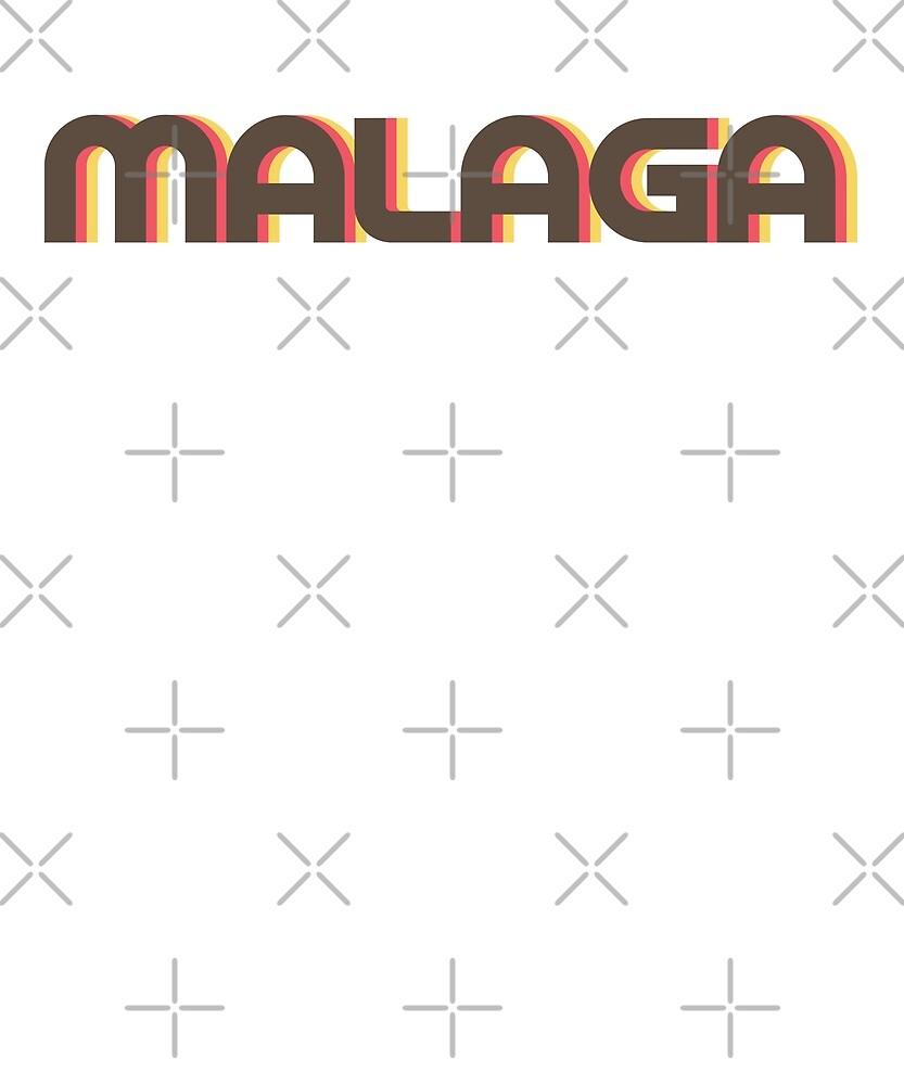 Retro Malaga T-Shirt by designkitsch