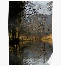 Winter at Cromford Canal  Poster