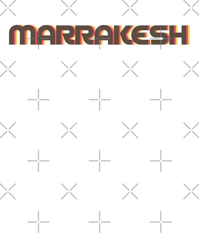 Retro Marrakesh T-Shirt by designkitsch