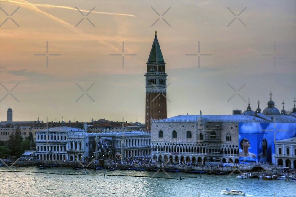 Piazza San Marco at Dusk by Tom Gomez