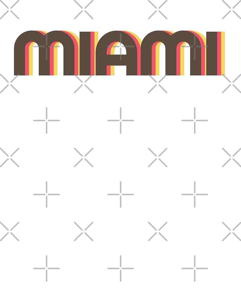 Retro Miami T-Shirt by designkitsch