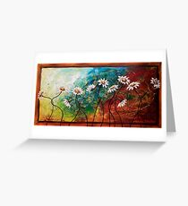 The Tangle of Daisies Greeting Card