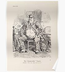 Cartoons by Sir John Tenniel selected from the pages of Punch 1901 0082 The Irrepressible Tourist Poster