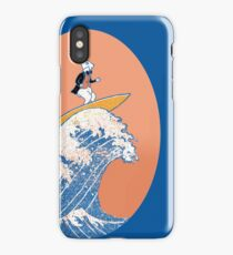 White Rabbit Surfing iPhone Case