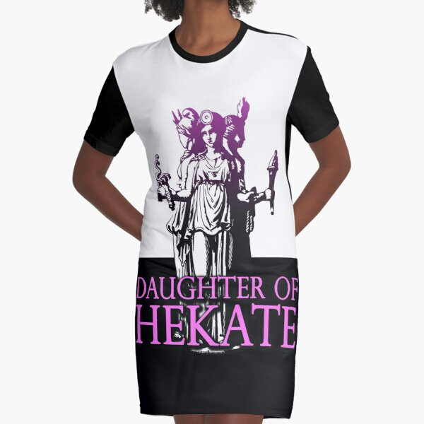 Daughter of Hekate - The Goddess of Witches Graphic T-Shirt Dress