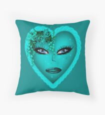 Blue eyes-  Art + Products Design  Throw Pillow