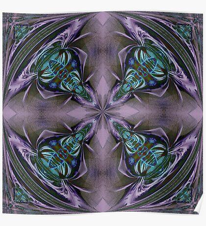 Art Nouveau - Pattern for a tile Poster