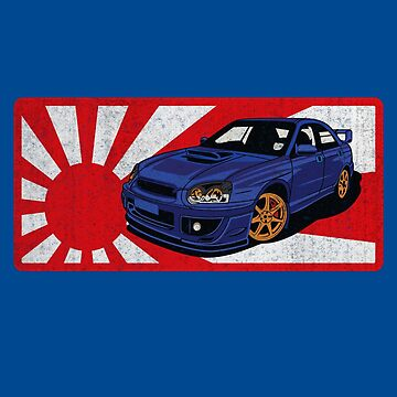 Subaru WRX Japan AWD Car Lover Owner Enthusiast Rising Sun Flag by maindeals