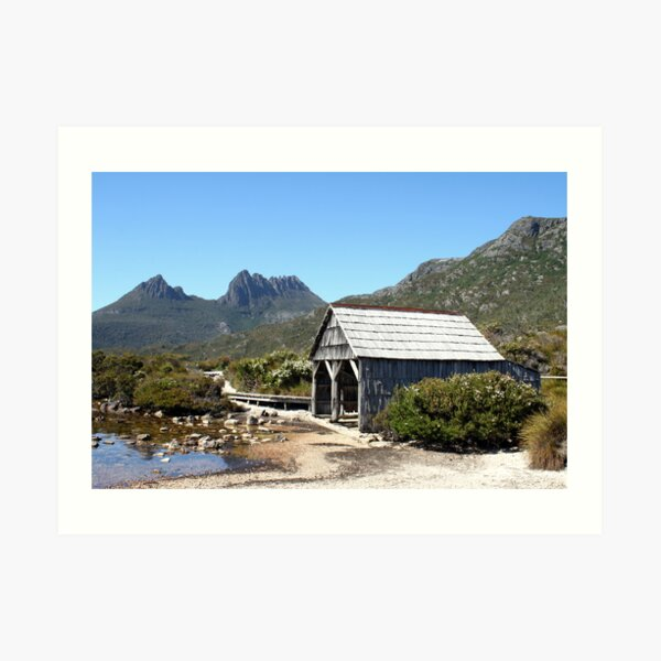 Old Cradle Mountain Boat Shed Art Print