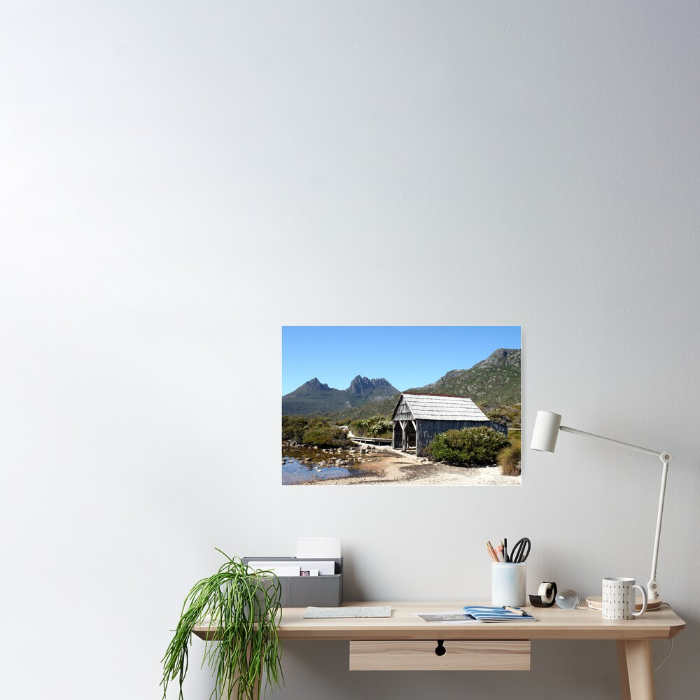 Old Cradle Mountain Boat Shed Poster