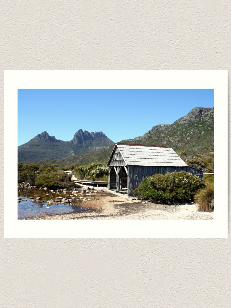 Alternate view of Old Cradle Mountain Boat Shed Art Print