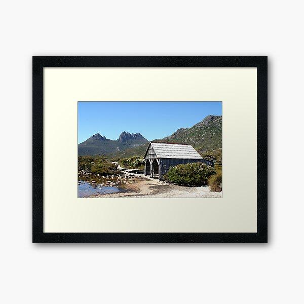 Old Cradle Mountain Boat Shed Framed Art Print