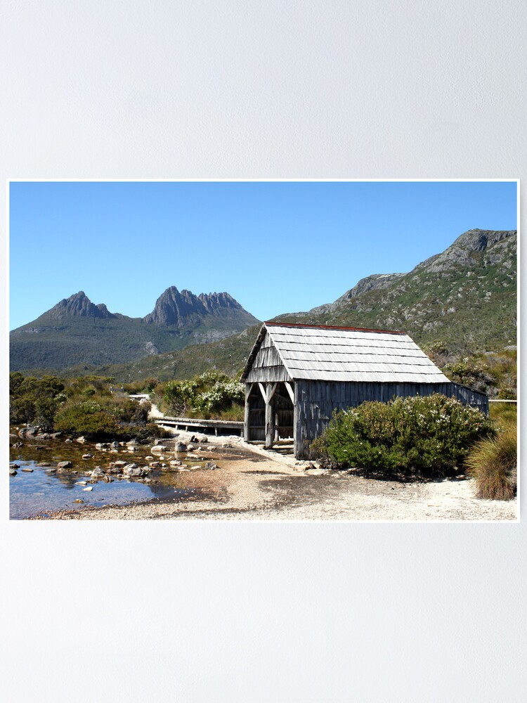 Alternate view of Old Cradle Mountain Boat Shed Poster