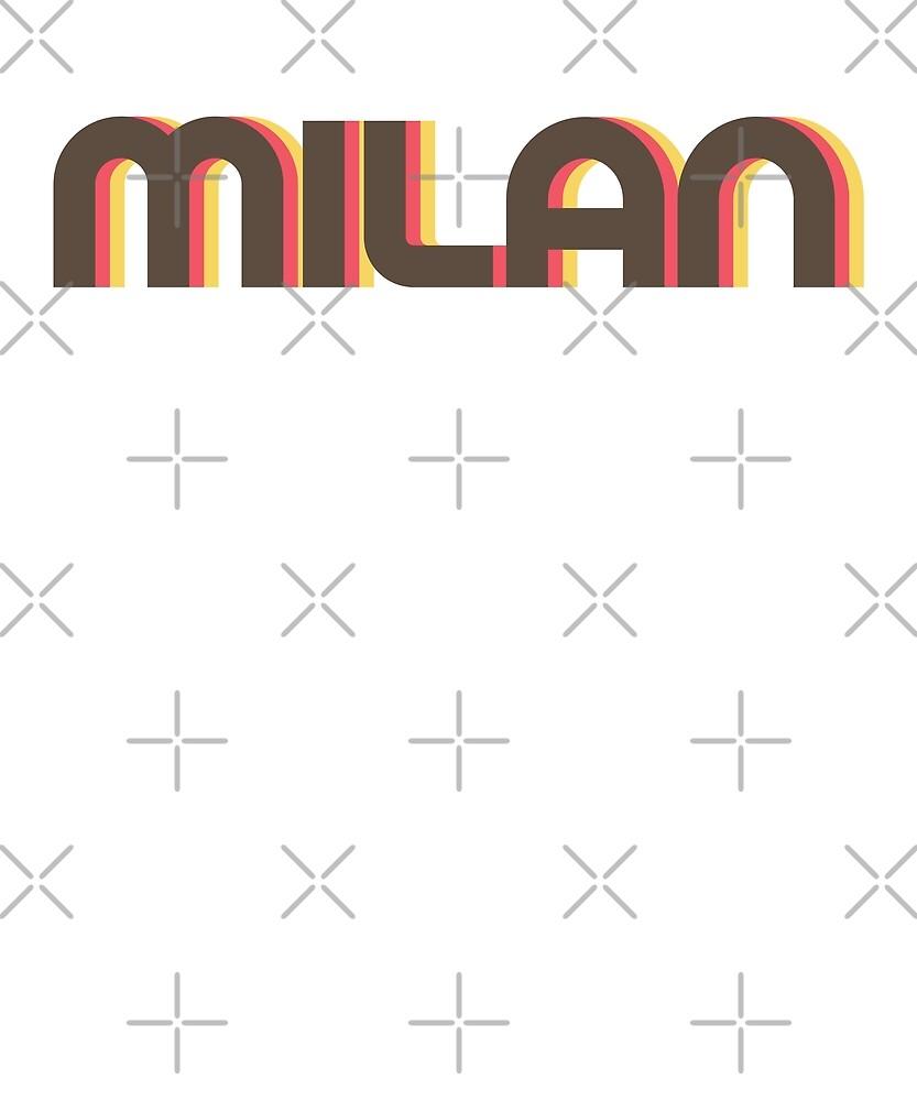 Retro Milan T-Shirt by designkitsch