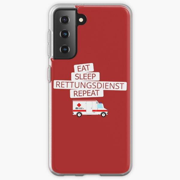 eat sleep rescue service repeat Samsung Galaxy Soft Case