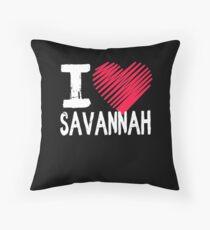 Ich liebe Geschenk Savannah Georgia Dekokissen