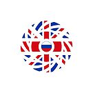 British Russian Multinational Patriot Flag Series by Carbon-Fibre Media