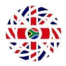 British South African Multinational Patriot Flag Series by Carbon-Fibre Media