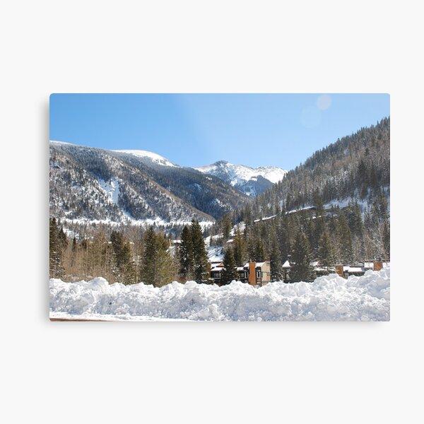 Ski Valley Metal Print