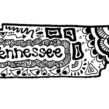 Tennessee Zentangle by alexavec