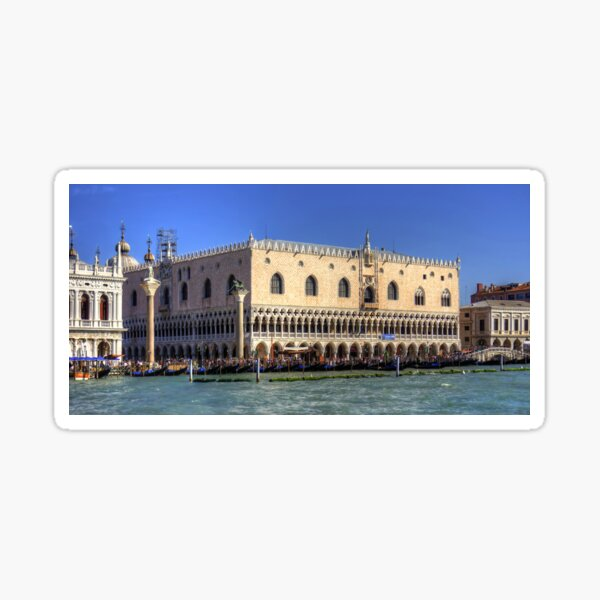 Doge's Palace from the Giudecca Canal Sticker