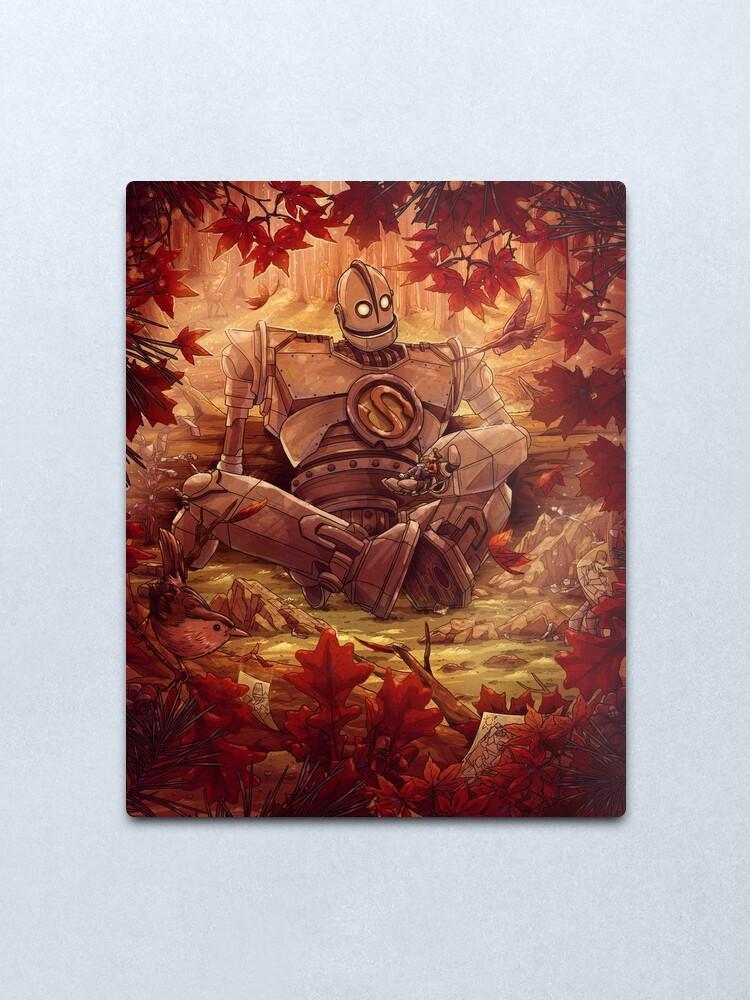 Alternate view of Souls Don't Die Iron Giant Fan Art Metal Print