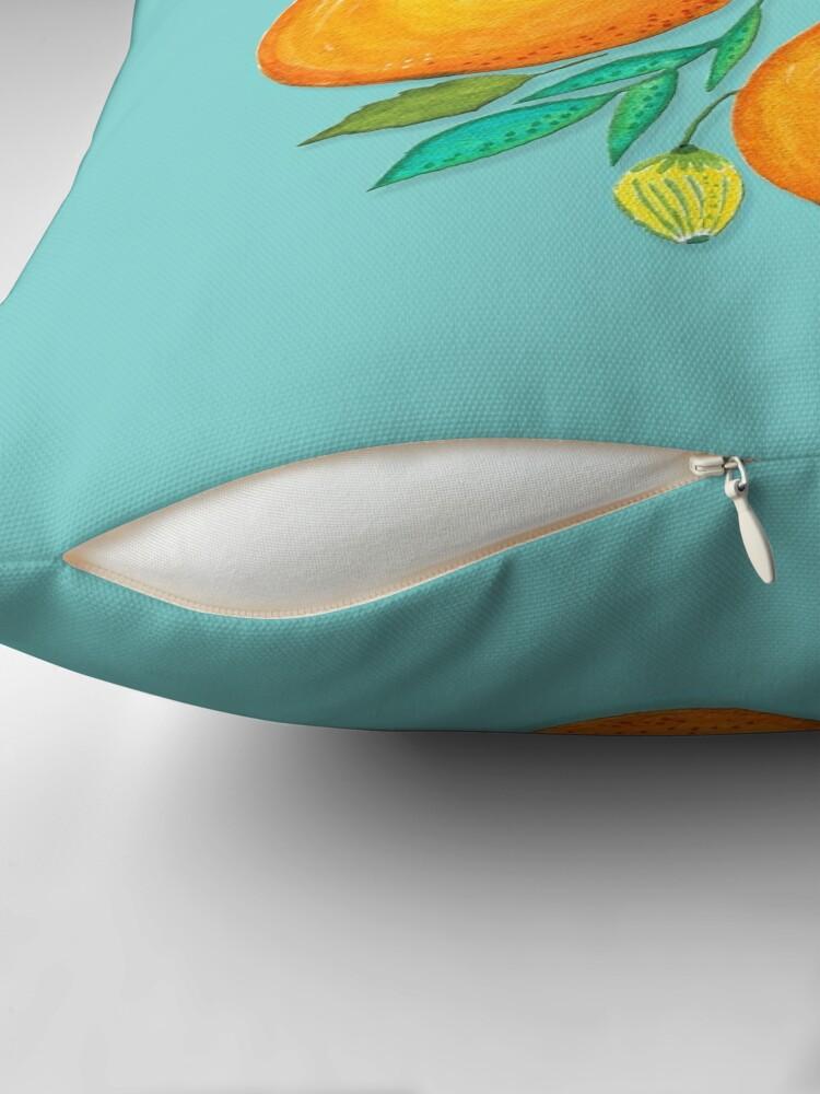 Alternate view of Lady Orange Throw Pillow