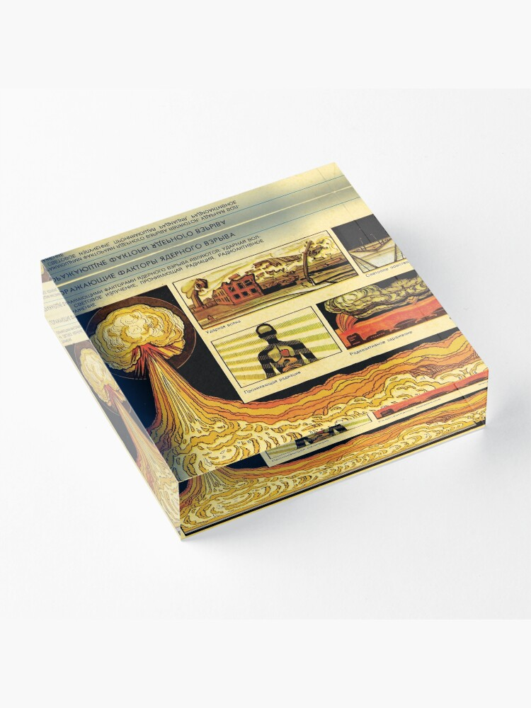 Alternate view of Effects of Nuclear Explosions - Soviet Atomic War Preparation Acrylic Block