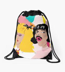 I want to break free Drawstring Bag