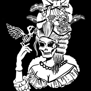 Gotische Marie Antoinette Black & White von lunaelizabeth