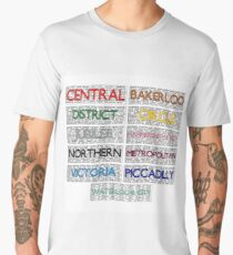 Tube Lines - All Men's Premium T-Shirt