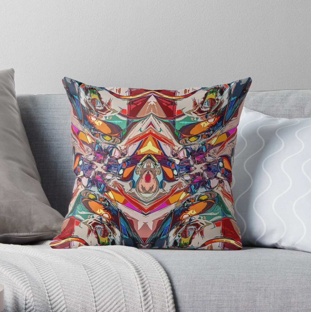 Balance of Abstract Shapes Throw Pillow