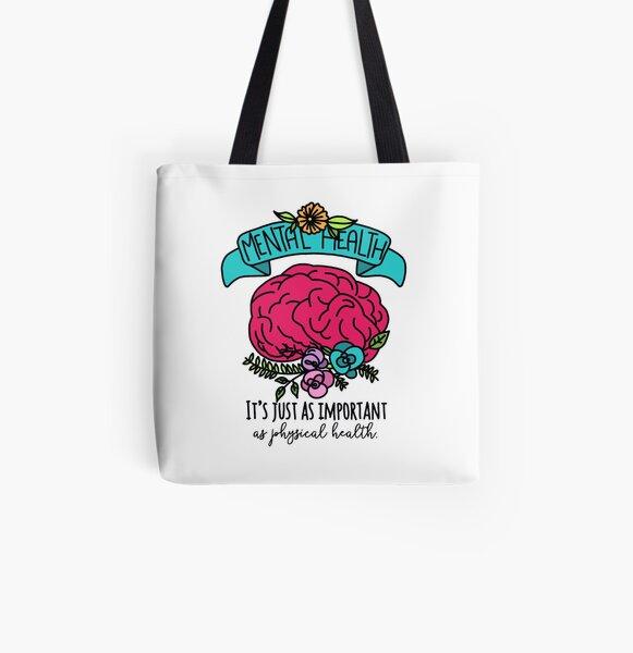 Support Depression Awareness Tote Bag Suicide Bag Mental Illness Mental HealthAwareness Mental Health Matters All-Over Print Drawstring Bag