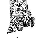 Rhode Island Zentangle by alexavec