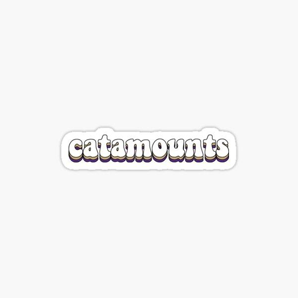 Funky WCU Catamounts Sticker