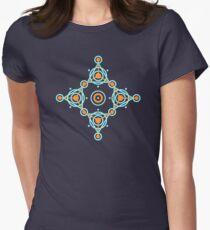 Geometric circle design Women's Fitted T-Shirt