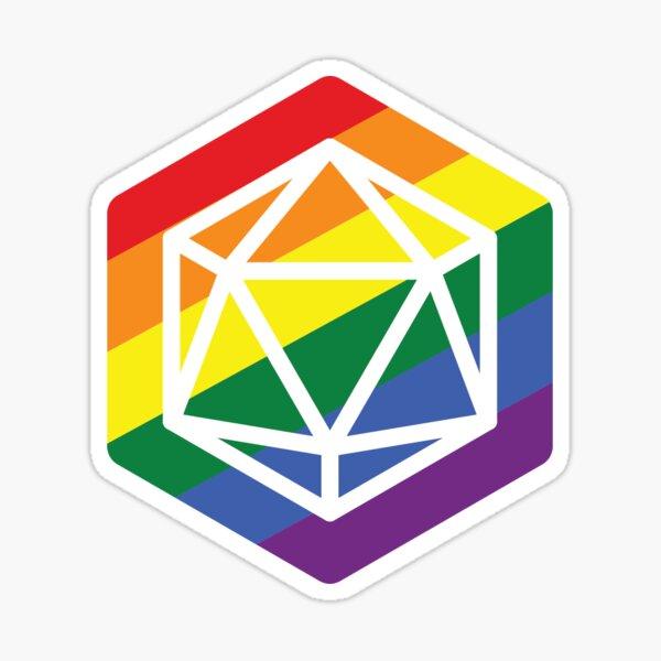 LGBT+ D20 Stickers: Gay Sticker