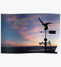 Keep your compass pointing to God Poster