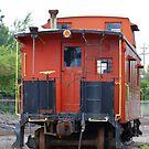 Orange Train by Vonnie Murfin