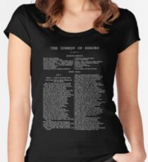 The Comedy of Errors William Shakespeare First Page Women's Fitted Scoop T-Shirt