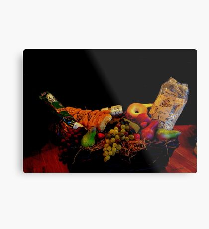 A Basket for Two Metal Print