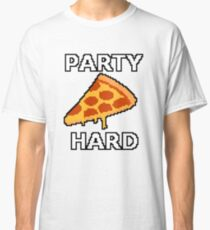 Party Hard Pizza Pixel Art Classic T-Shirt