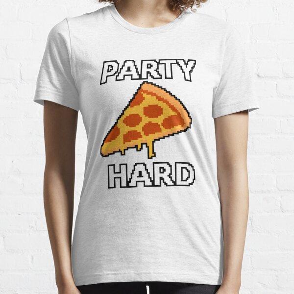 Party Hard Pizza Pixel Art Essential T-Shirt