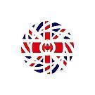British Canadian Multinational Patriot Flag Series by Carbon-Fibre Media