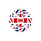 British Canadian Multinational Patriot Flag Series by Carbon-Fibre Media