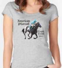 American Pharoah Triple Crown 2015 Women's Fitted Scoop T-Shirt